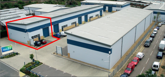 Redhill 23 is an established development of high specification industrial/warehouse units on a spacious and secure site. The development was built in 2008 with the units having profiled steel clad and brickwork elevations with panelled loading doors...