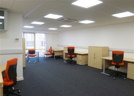 Modern office suites ranging from 347 sq ft to 964 sq...
