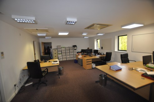 * Detached office building lwith garage/storage at rear  * 16 Car parking spaces (1:162 sq ft)