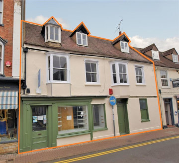 A valuable freehold with development/investment opportunity. Ground floor retail shop and residential use over having planning consent for conversion to three self-contained apartments  £395,000