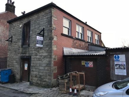These are two separate properties, the largest of which comprises of a property currently used as a saw mill. This is a two storey stone fronted property with brick side elevations set beneath a timber framed roof clad in slate. There are two separat...