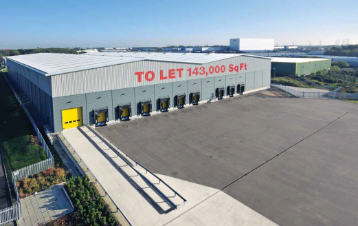 12 metres clear height. 9 dock and 1 level loading doors. 50KNm floor. 750 kVA electrical supply. Standard aisle racking 15,576 pallets  Narrow aisle racking 19,948 pallets. Single storey offices - capable of expansion at first floor. 60m x 70m yard....