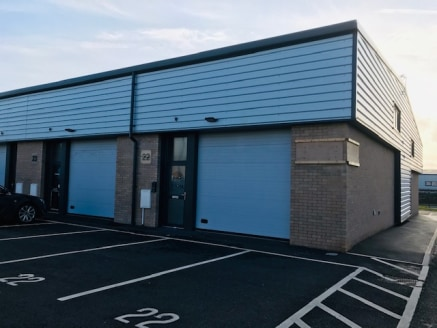 New build business unit available to rent which is suitable for a variety of uses including trade, warehouse, workshop and offices (all subject to consent) and the unit comprises:  *Steel portal frame construction   *Sectional goods door   *Three pha...