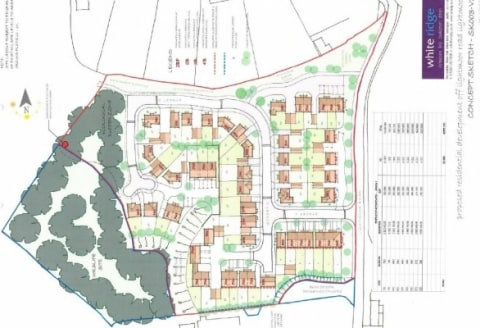 The site comprises an irregular shaped plot of land extending to circa 6.178 acres (2.5 hectares) with outline planning permission for residential development. The site is a former concrete works, most recently utilised for open storage purposes....