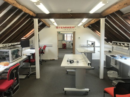 Two storey barn conversion office