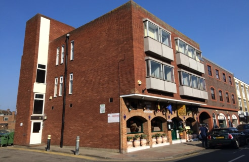 Refurbished town centre offices with excellent parking