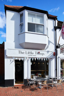 Very stylish and well fitted independent Coffee House in Egham town centre