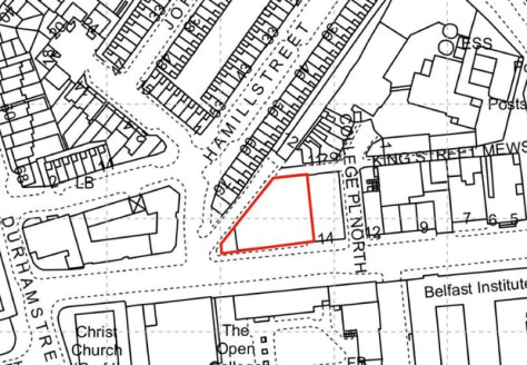 Residential Development Opportunity with Planning Application Submitted for 49 No. Apartments\n\nThe subject property is located on College Square North with return frontage onto College Place North, adjacent to RBAI and John Bell House and a short w...