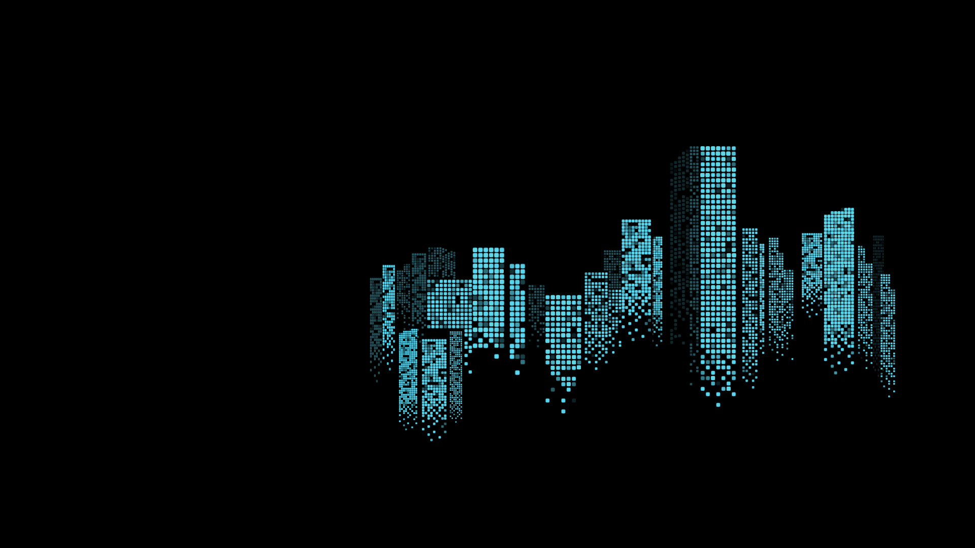 skyscrapers made from dots