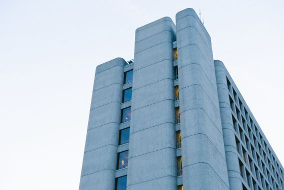 Image of sixties style concrete building