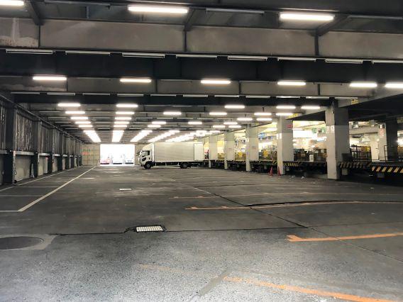 Interior of an underground warehouse space