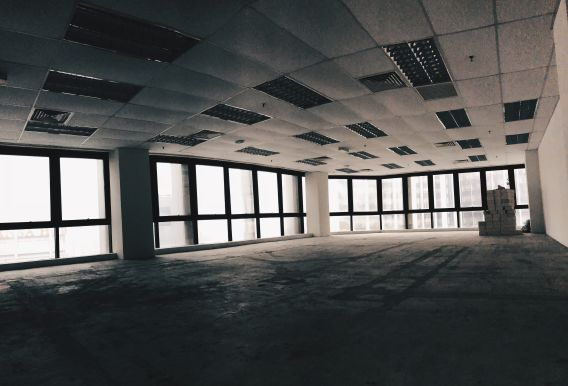 Image of an empty office floor