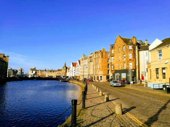 Image of Leith an area in Edinburgh which is part of the docklands