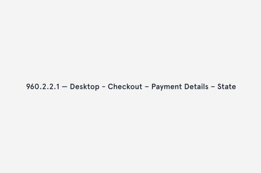 The payment details stage in the checkout flow