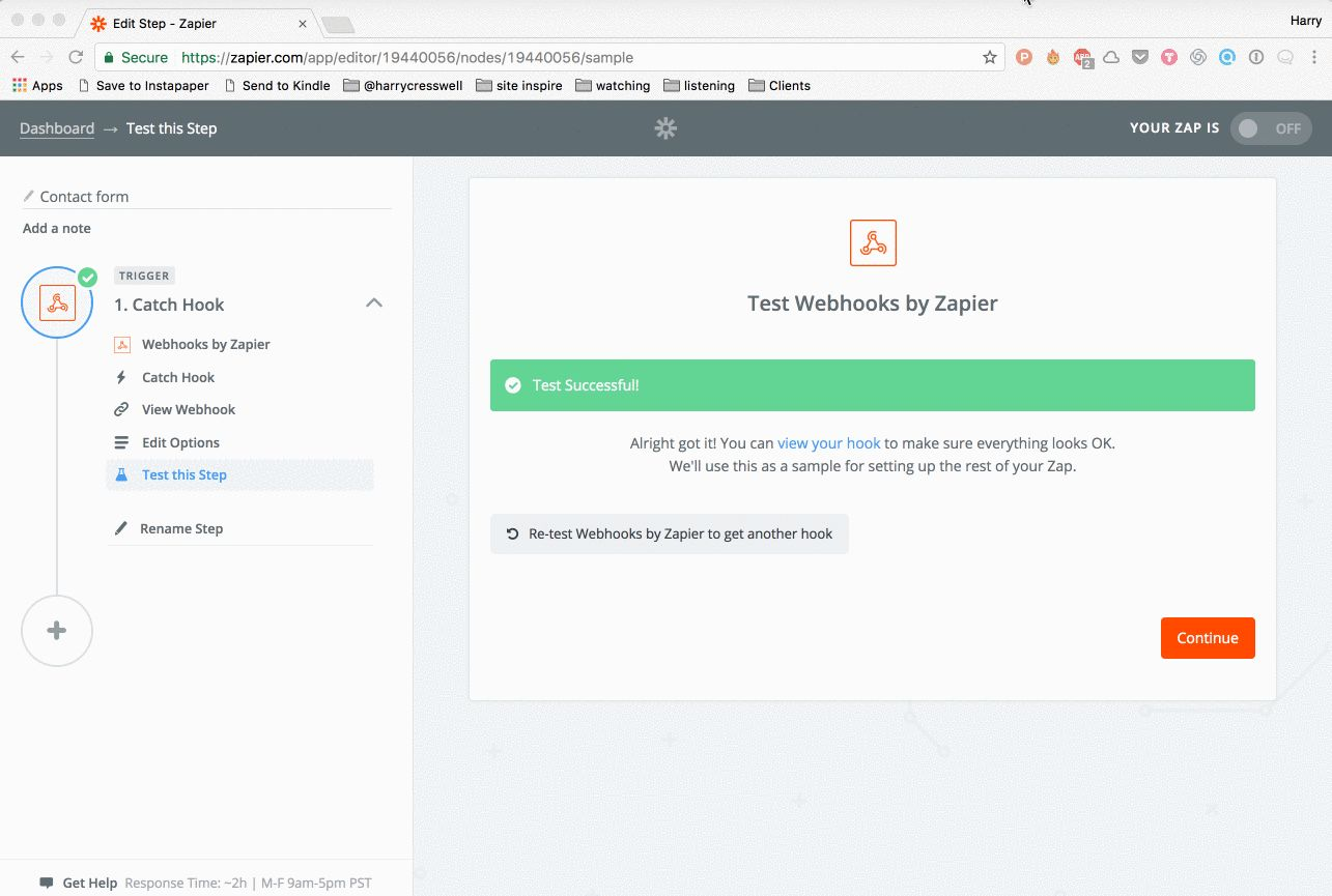 Send form data to an inbox using Zapier - Harry Cresswell