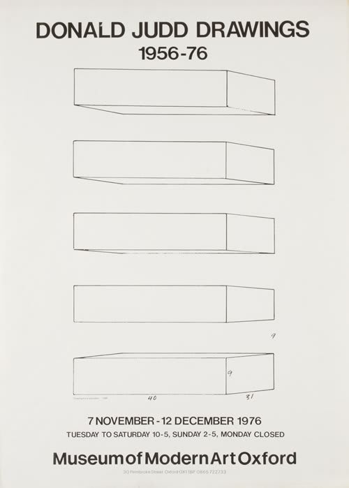 Donald Judd Drawings 1956-76 Poster