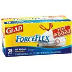 Glad ForceFlex Drawstring Tall Kitchen Bags.