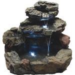 Best Garden 4 Tier Rock Fountain