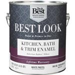 Best Look Latex Paint & Primer In One Kitchen Bath & Trim Enamel Gloss Interior Wall Paint