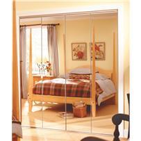 Series 4900 Steel Frameless Mirrored Bifold Door