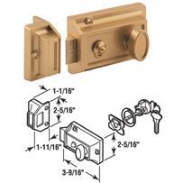 3-Way Night Latch With Locking Cylinder