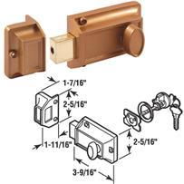 Night Lock With Locking Cylinder