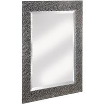 Erias Home Designs Chromed Espresso Wall Mirror
