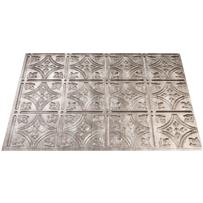 ACP Traditional 1 Cross Hatch Silver Backsplash Panel
