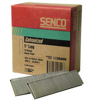 "Senco L13BABN 1/4"" Crown 1"" Galvanized Wire Staples 18Ga 5M"