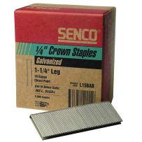 "Senco L15BAB 1/4"" Crown 1 1/4"" Galvanized Wire Staples 18Ga 5M"