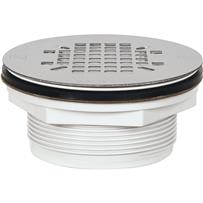 PVC No-Caulk Stainless Steel Shower Drain Strainer