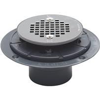 PVC Pan Shower Drain Stainless Steel Strainer