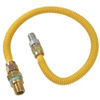 "1/2"" O.D. Gas Connector - 1/2"" M.I.P. Safety+PLUS x 1/2"" M.I.P"