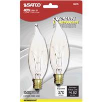 Satco 40W CA9-1/2 Incandescent Decorative Light Bulb