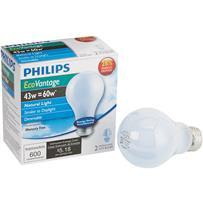 Philips EcoVantage A19 Medium Halogen Light Bulb
