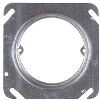 "Steel City 4"" Single-Receptacle Square Raised Cover"