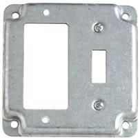 Steel City 1-GFI/1-Toggle Square Device Cover