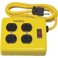 4-Outlet Metal Power Strip