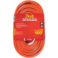 Do it 12/3 Extension Cord With Powerblock