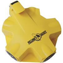 Yellow Outdoor Multi-Outlet Tap
