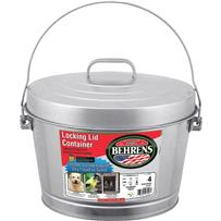 Behrens Galvanized Steel Pail With Lid