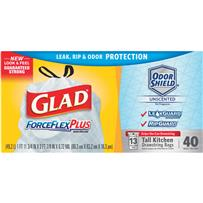 Glad ForceFlex Plus Tall Kitchen Trash Bag