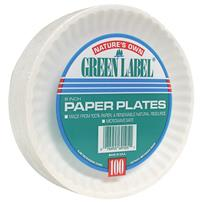 Nature's Own Green Label Paper Plates