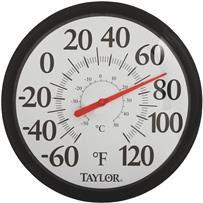 Image Gallery Easy Read Dial Outdoor Wall Thermometer