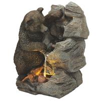 Best Garden Bear & Rock Fountain