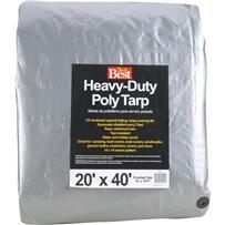 Do it Best Heavy-Duty Silver Poly Tarp