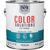 Color Solutions Self-Priming Latex Satin Interior Wall Paint