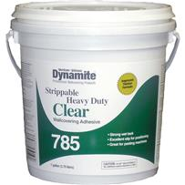 Dynamite 785 Heavy-Duty Clear Strippable Wallcovering Adhesive