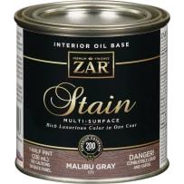 UNITED GILSONITE 17106 6 ZAR PLUS WOOD STAIN 1/2 PT SLATE GRAY