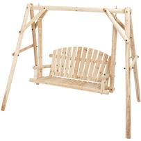 Jack Post North Woods 2-Person Log Patio Swing & Frame